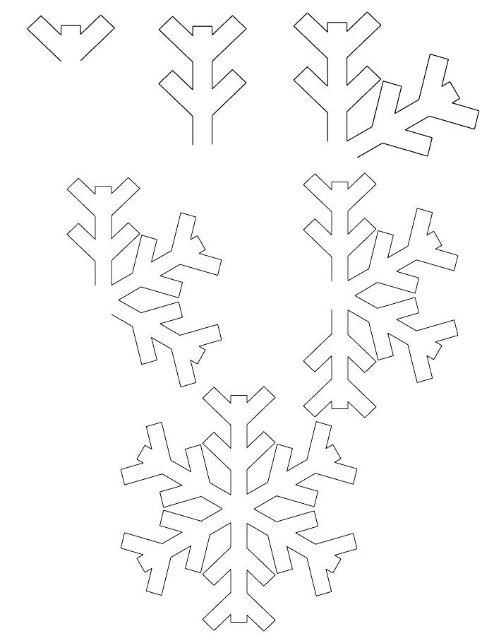 How to draw a snowflake step by step easy drawing snowflake