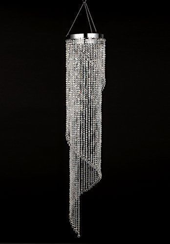 Modern Crystal Chandelier Iridescent Spiral Chandelier 4 Ft Chandelier Lighting #ModernCrystalChandelier