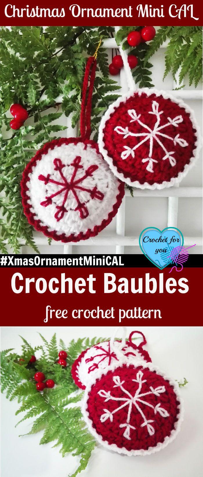 Christmas Ornament Mini CAL - Crochet Baubles. #XmasOrnamentMiniCAL