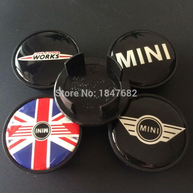 High quality 54mm MINI JOHN  WORKS JCW England map MINI wing Car emblem Wheel Center Hub Cap Dust-proof car covers