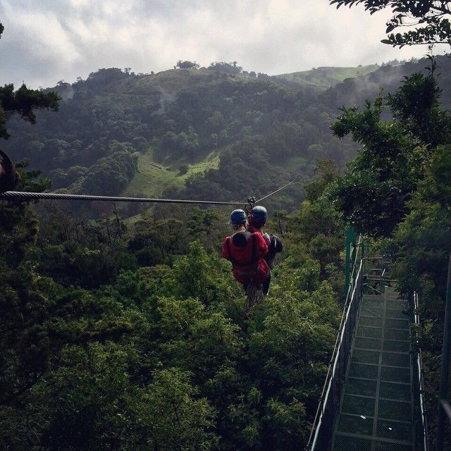 Extremo Park, Monteverde, #CostaRica - 143m above the Central American cloud forest. It's set in a park that also lets you explore the jungle canopy with an extensive circuit of ziplines