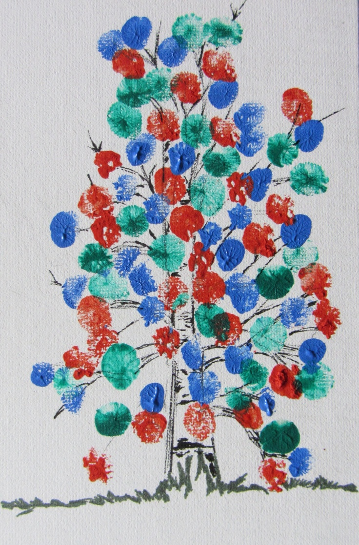 Family Reunion idea,Finger print tree - use one colour for each family (by Joan Cody July 15/12)