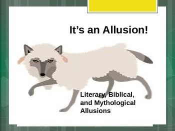 Students learn what allusions are AND two strategies for interpreting unknown allusions: CONTEXT and RESEARCH. The class is shown several examples on the PowerPoint to discuss. There are opportunities within the lesson to brainstorm ideas for other likely references.