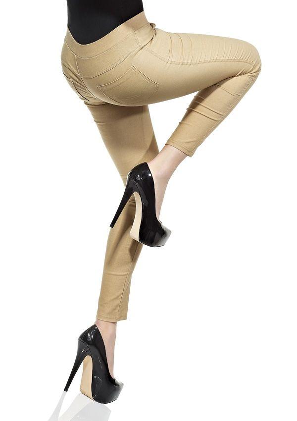 LEGGINSY CLASSIC 969 Optycznie wyszczuplają pośladki.  Legginsy imitujące spodnie wykonane z materiału najwyższej jakości, Posiadają z przodu i z tyłu prawdziwe kieszenie.   W pasie nieuciskająca gumka, niezwykle komfortowe.