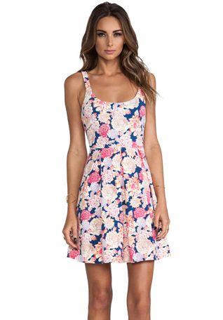 MINKPINK Floral Frenzy Box Pleat Dress in Multi
