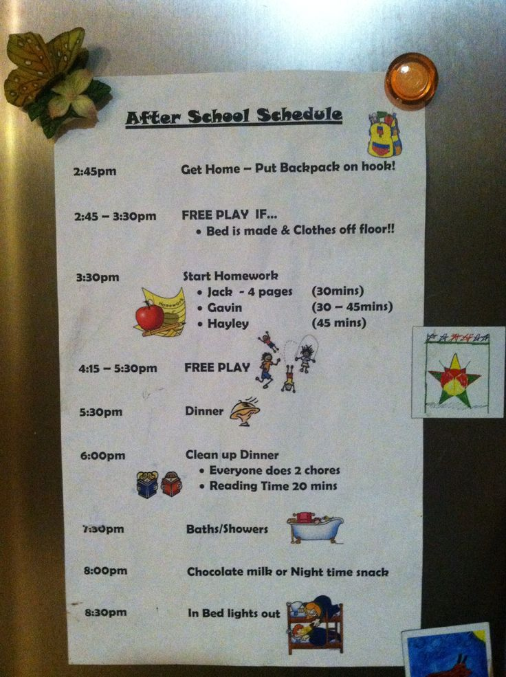 I need to make an after school schedule and probably a before school schedule, too!