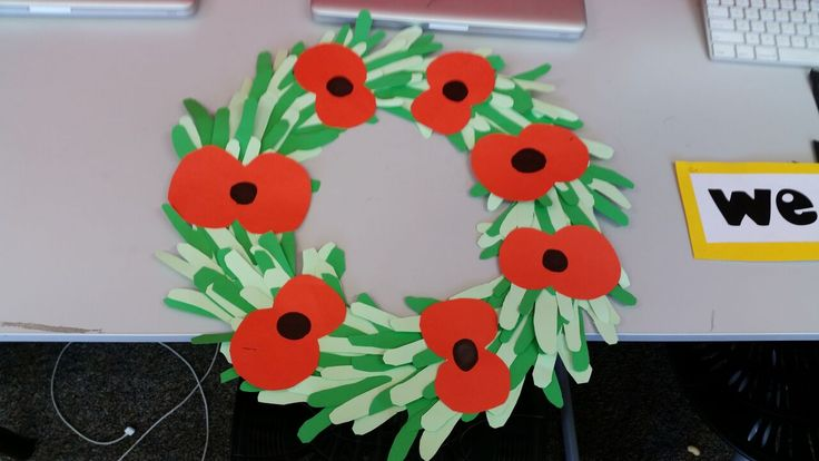 ANZAC wreath but with cut out hands