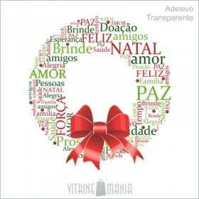 Adesivo de Vitrine Natal Guirlanda Bons Fluidos