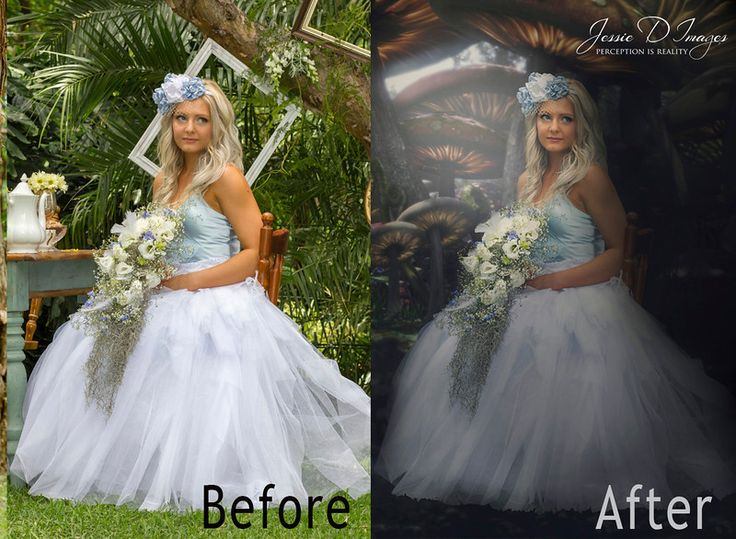 Before and After image - Alice in wonderland - Image by Jessie D Images