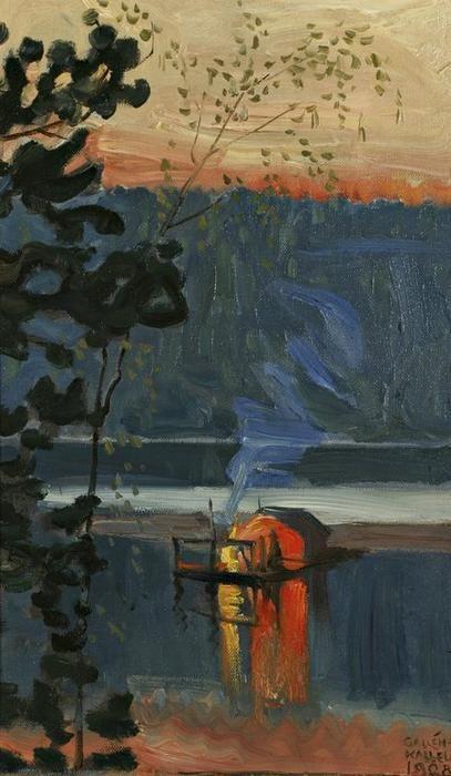 Stockflotte, huile sur toile de Akseli Gallen Kallela (1865-1931, Finland)