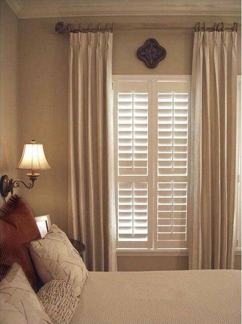 Drapery panels, Savannah and Shutters on Pinterest