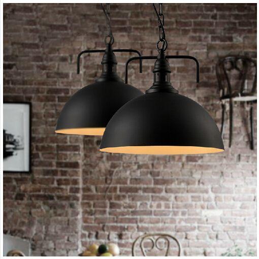 new arrive American loft industrial style brief novel led e27 aluminum pendant lamp dining room living room light DY-1395