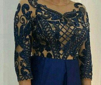 Vestido estilo princesa da estilista Patrícia Bonaldi.