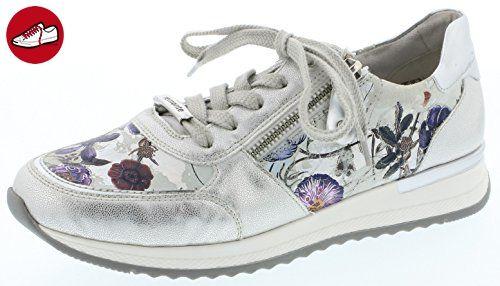 Remonte Damenschuhe R7002 Damen Sneaker, Schnürer, Schnürhalbschuhe, extra weiche Innensohle silber/platin (ice/argento/offwhite / 90), EU 38 (*Partner-Link)