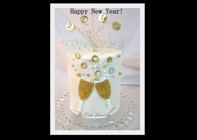 Learn to make a festive New Year's Eve cake in this blog tutorial!
