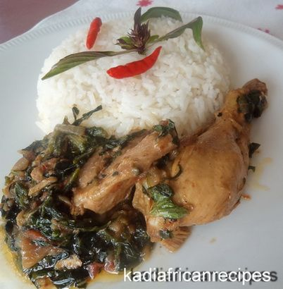 Spinach Stew with Chicken - AFRICAN