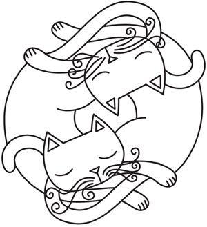 Infinite Kitties design (UTH5143) from UrbanThreads.com