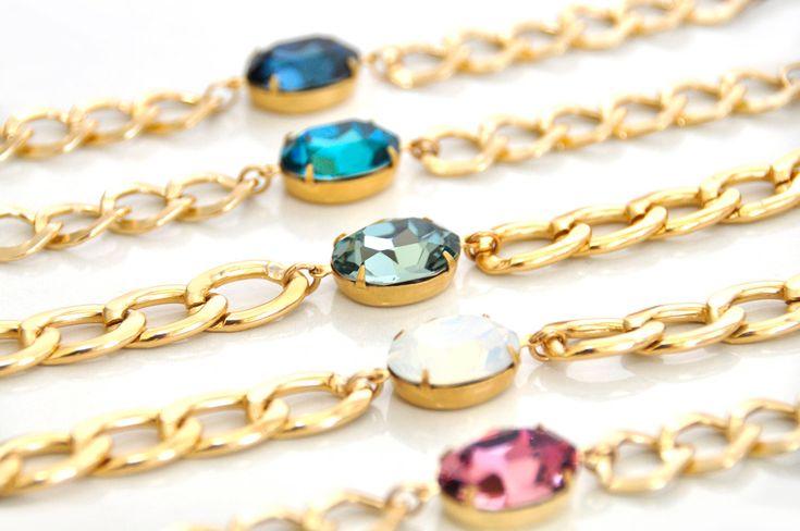Gemstone Bracelet, Sparkle Bracelet, Mother Daughter Jewelry, Matching Bracelets, Best Friends Bracelet, Personalized Bracelets, Gift Idea by Bellalizd on Etsy