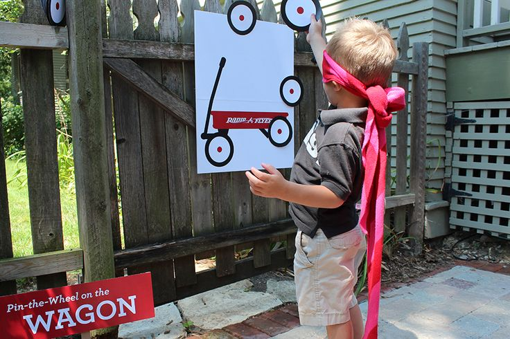 "Radio Flyer Party Games with FREE ""Pin the Wheel on the Wagon"" Template"