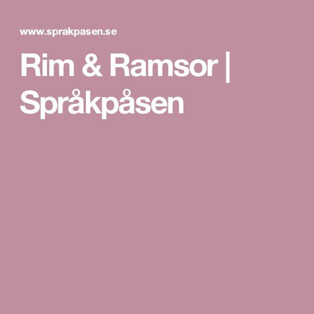 Rim & Ramsor | Språkpåsen