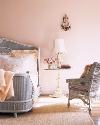 soft and feminine Modern Country Style: Case Study: Farrow and Ball Middleton Pink