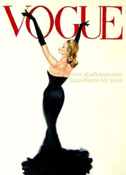 A Vintage Touch: Strike a Pose. . .Vintage Vogue Cover ~ Grace Kelly