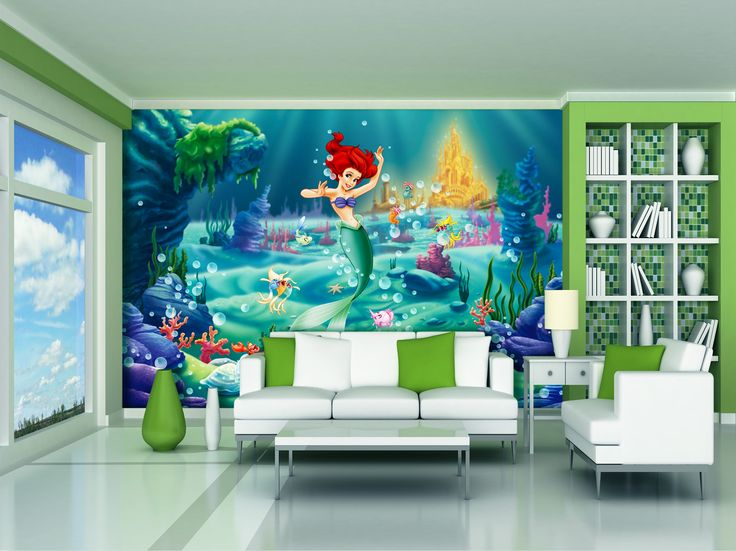 17 best ideas about little mermaid wallpaper on pinterest for Disney ariel wall mural
