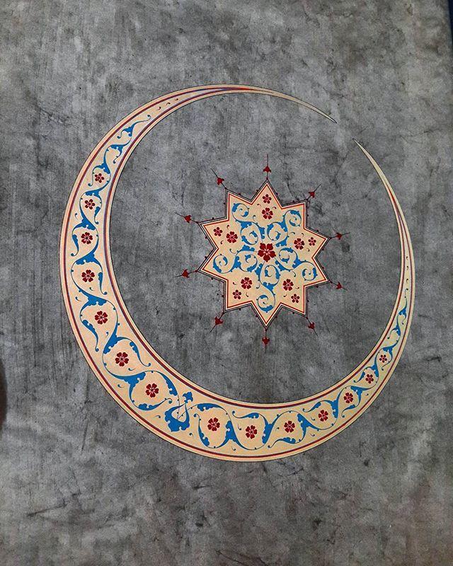 #tezhip #tezhipsanatı #tazhip #islamicart #turkishart #art #sanat #desen #hilal #konya @ismailcokuk #ismailçökük.