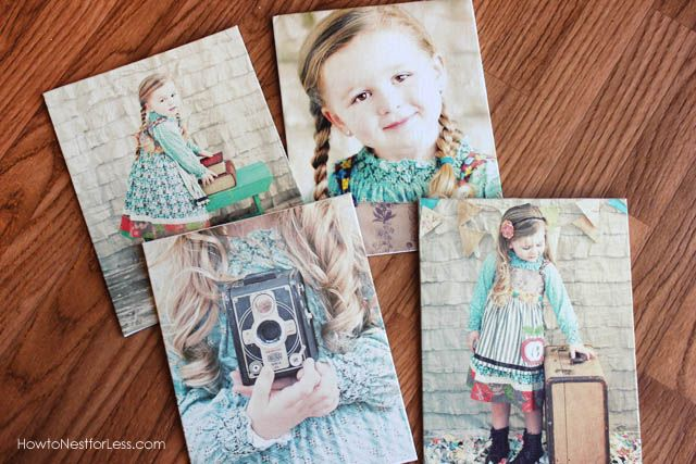 Photo Canvas Prints - mod podge easy as pie and much less moolah