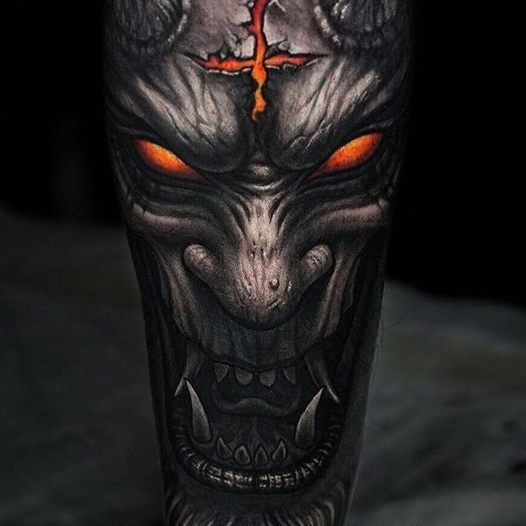 25+ Best Ideas About Demon Tattoo On Pinterest