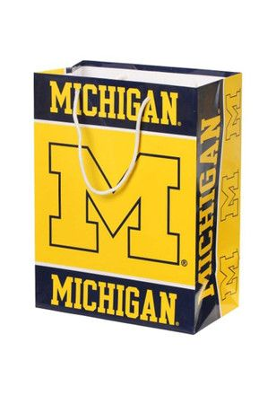 Michigan Wolverines Medium Yellow Gift Bag