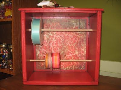 This looks like a wonderful idea, and would be wonderful way to display vintage lace by collecting empty spools from the fabric store and winding your lace for display.