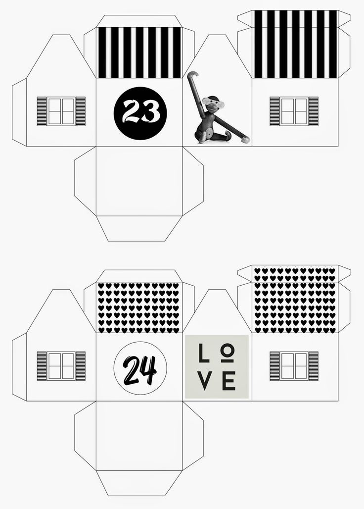DIY adventní domečky - free download mixtum design: Letos s předstihem ... mixtumdesign.blogspot.cz