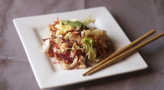 The sesame oil and soy sauce combination elevates this simple summer salad into something special!