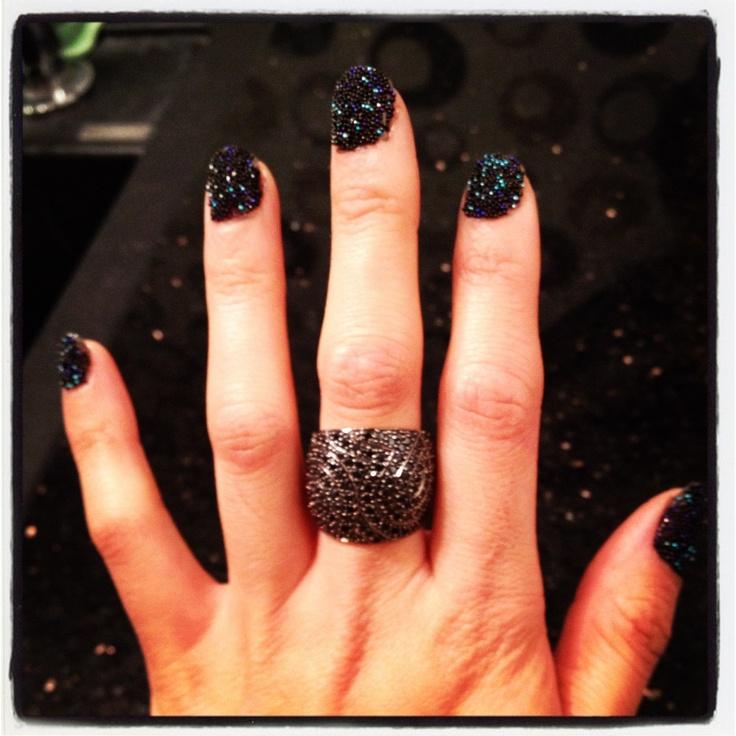 My new nail polish... I <3 caviar