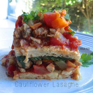 Cauliflower Lasagne | Popular Paleo ~ Grain-free, gluten-free, dairy-free, legume-free, soy-free! It's packed with vegetables and tastes amazing!!