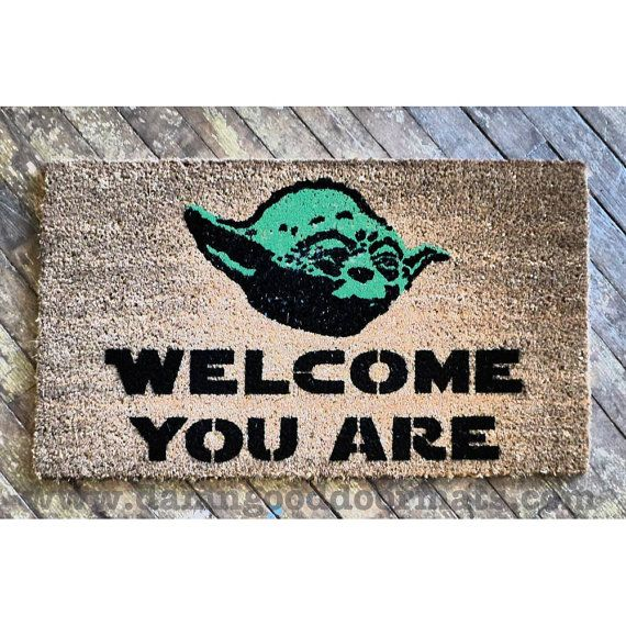 Welcome you are mat sci fi novelty geek stuff fan art buzzfeed yoda geek culture welcome - Novelty welcome mats ...