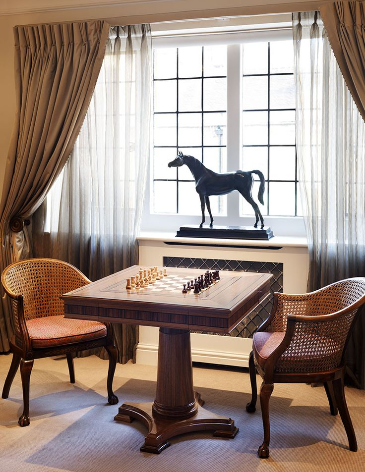 A casual game of chess.