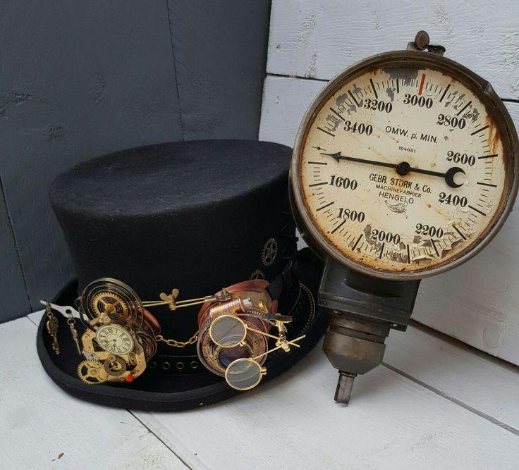 My 1860 model steampunk top hat.