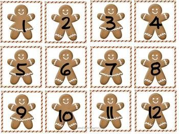 Free Gingerbread Calendar Pieces