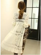 Lady long knit sweater cardigan with hollow out design fashion and basic Best Seller follow this link http://shopingayo.space