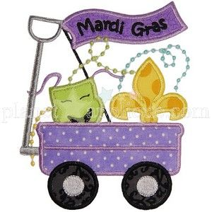Mardi Gras Wagon Applique Embroidery Designs
