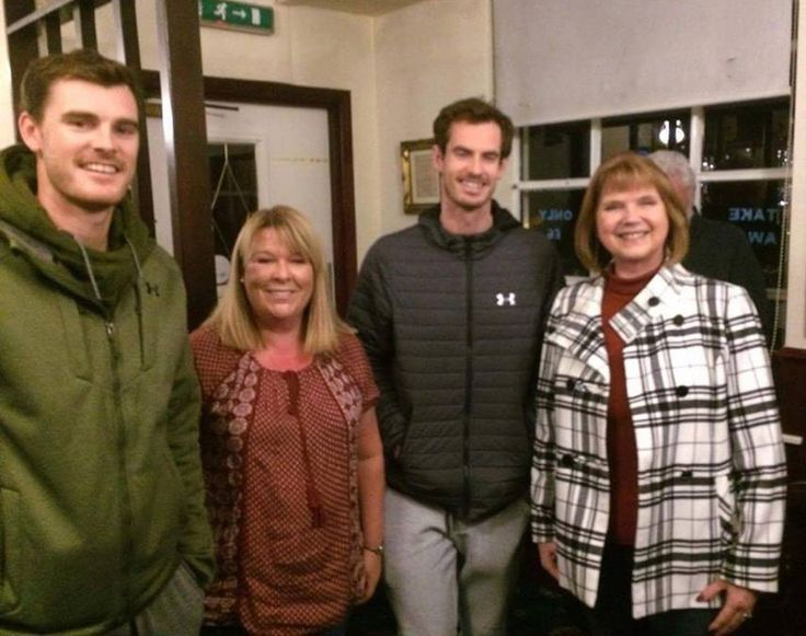 Jamie and Andy Murray at their dad, William, stag party (November 2016) https://www.thescottishsun.co.uk/news/231626/andy-murray-stuns-locals-by-joining-brother-jamie-at-tiny-village-pub-to-celebrate-dad-willies-stag-do/