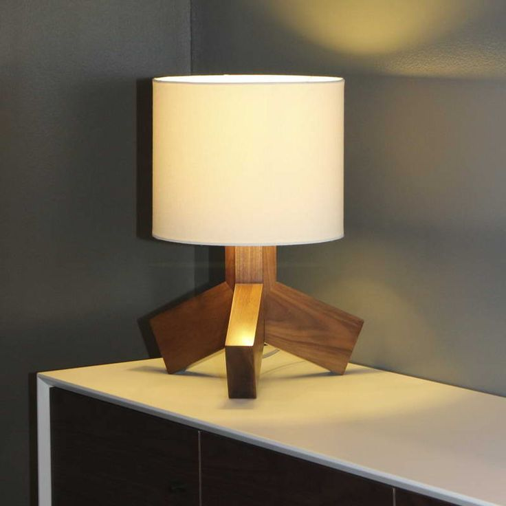 Wonderful Battery Operated Table Lamps With Black Wall Combined With Wooden  Material And Beige Lamp Cover