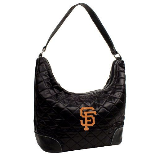 "MLB San Francisco Giants Team Color Quilted Hobo by Little Earth. Save 41 Off!. $22.92. Littlearth's Quilted Collection is the perfect bag for the astute Sports Fan.  This Quilted Hobo measures 10"" Length x 5"" Width x 8.5"" Height and has an 8.5"" drop length faux leather handle.  This Hobo features rich satin-like quilting sure to catch the eye of passersby.  Displays embroidered appliqué of favorite team logo in bottom front right of bag.  Zipper closure at top of bag keeps belongi..."
