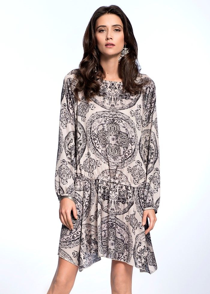 SILK BOHO DRESS  €159.00 Etheric, subtle dress, created from the finest quality of Italian silk, makes the women silhouette look feminine and sensual.