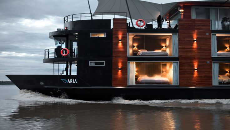 M/V Aria Amazon Cruise is the perfect size to sail along the Amazon River. #getlost