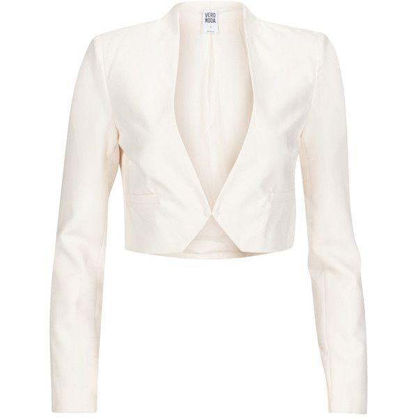Vero Moda Blazer Charlotte White ($49) ❤ liked on Polyvore