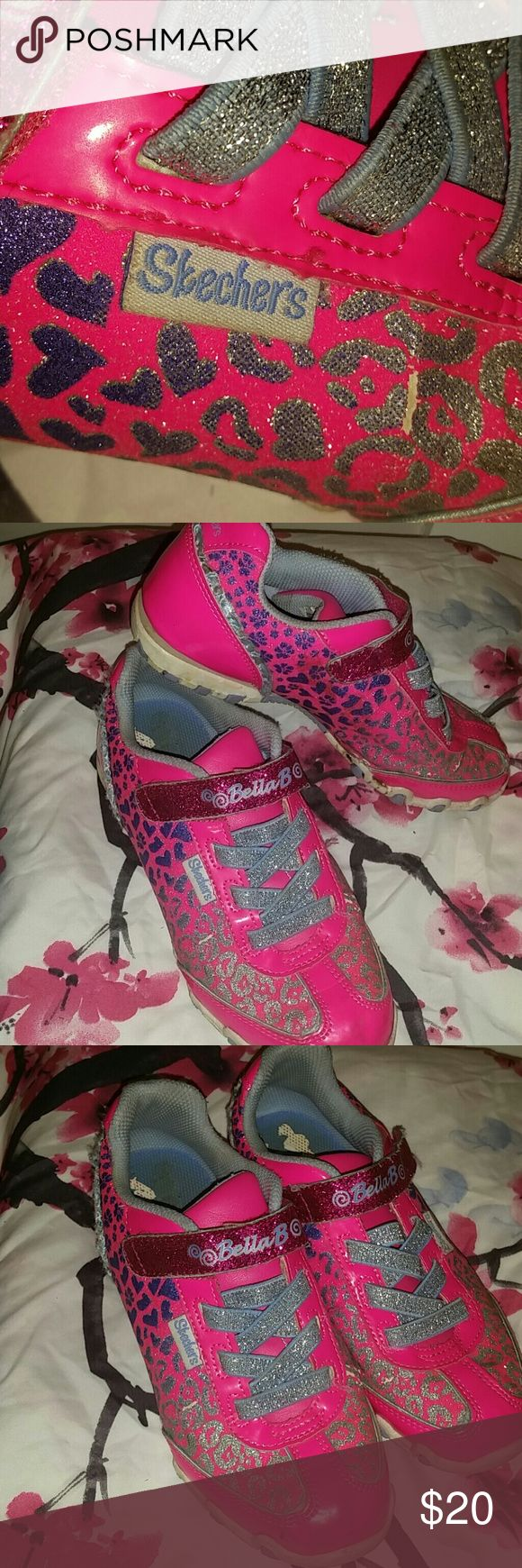Skechers Ballerina tennis shoes Skechers Ballerina tennis shoes. Colors: Pink, Purple and Silver .Used , No pet, No Smoking Home. Skechers Shoes Sneakers
