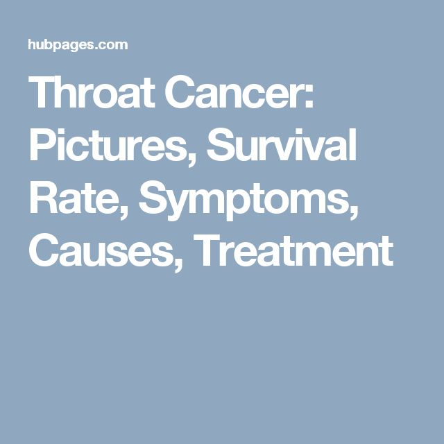 Throat Cancer: Pictures, Survival Rate, Symptoms, Causes, Treatment